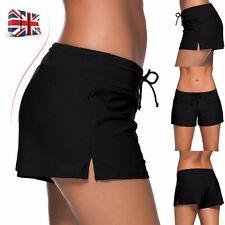 UK Women Shorts Plain Bikini Swim Swimwear Lady Boy Style Short Brief Bottoms