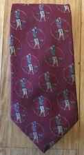 Nautica Maroon Golf Necktie Tie Hand Finished 100% Silk