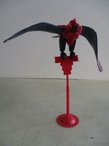 VTG 1972 HE-MAN MOTU MASTERS OF THE UNIVERSE SCREECH EAGLE BIRD MATTEL + STAND
