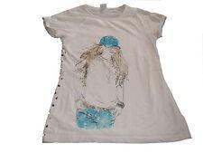 s. Oliver tolles T-Shirt Gr. 152 creme mit Mädchen Motiv !!