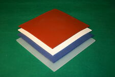 "3mm Red Solid Silicone Rubber Sheet 200mm x 200mm (8"" x 8"" Approx)"