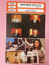 US American Satirical Film Network Peter Finch William Holden French Trade Card