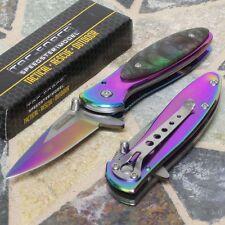 Tac Force Speedster Tactical Rescue Fake Abalone Overlay Folding Pocket Knife