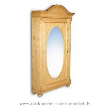 Eckschrank,Eck-Kleiderschrank,Dielenschrank mit Spiegel,Landhausstil,Massivholz