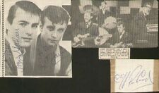 CLIFF RICHARD & THE SHADOWS SIGNED AUTOGRAPHS