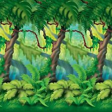 "Large JUNGLE TREES BACKDROP (top portion) Party Decoration PHOTO PROP 48"" x 360"""