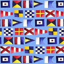 Fat Quarter Semaphore Flags Nautical By The Sea 100% Cotton Quilting Fabric