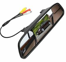 "HD 4.3"" Mirror Monitor DVD Display Screen For SUV Front Rear View Reverse Camera"