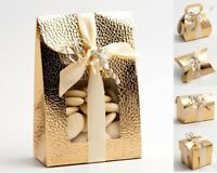 The Little Shop of Favours 50 Ivory Diamante Sacchetto Wedding Favour Boxes