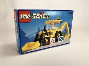 Lego System Town Backhoe Digger 6662 (1992) Pre-Owned