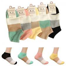 Soft Sport Wide Stripe Ankle Low Cut Women Boat Socks