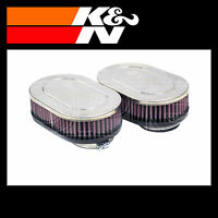 K&N RC-2382 Air Filter - Universal Chrome Filter - Twin Pack
