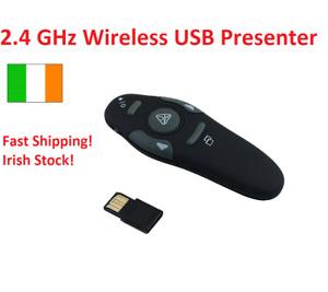 2.4GHz Wireless USB Presenter with Laser Pointer Pen Power Point Remote Control