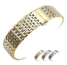 Stainless Steel Metal Clasp Bracelet Replacement Watch Band Strap 13 18 20 22mm