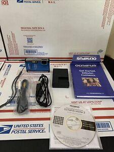 Olympus Stylus Tough-6000 Digital Camera Waterproof Shockproof 10MP Works Great!