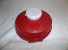 Tupperware Red Round Sandwich or Bagel Keeper plus Smidget Container with Seal