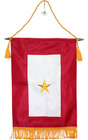 """12x18 Embroidered One Star Gold Star KIA Military Service Flag 12""""x18"""" Banner"""