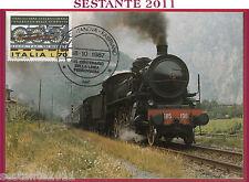 ITALIA MAXIMUM MAXI CARD LINEA FERROVIARIA PORTOCIVITANOVA FABRIANO 1987 B481