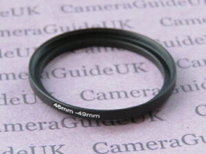 46mm to 49mm Male-Female Stepping Step Up Filter Ring Adapter 46mm-49mm