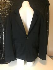 Politix Mens Black Jacket Size Large Rough Sewn Casual Excellent As New Cond
