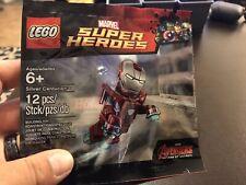 LEGO Marvel Super Heroes Iron Man Silver Centurion Minifigure Rare