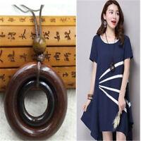 Ceramics Beads Pendant Ethnic Long Necklace Choker Chain Fashion Jewelry W
