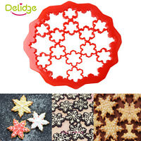 Snowflake Decorating Cake Tools Cookie Cutter Fondant Sugarcraft Diy Mold Mould