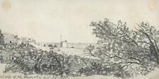 ST LEONARDS-ON-SEA HASTINGS SUSSEX Small Pencil Drawing 1833 - 19TH CENTURY