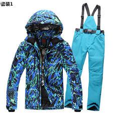 Men's Cotton Ski Suit Jacket Coat Pants Snowboard Warm Waterpoof Outdoor Parka