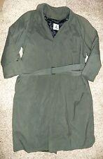 MISTY HARBOR Green Zip In Lining Trench Coat Size 40 Reg