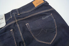 PEPE JEANS New Brooke Damen Hose Hüft slim stretch 27/32 W27 L32 darkblue Neu