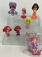 Strawberry Shortcake Lot 7pc McDonalds Doll Figures Toppers Toys Ginger Orange