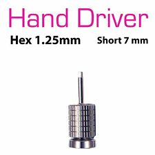 Hand Hex Drivers 1.25mm For Dental Implant Abutment Screw 7mm