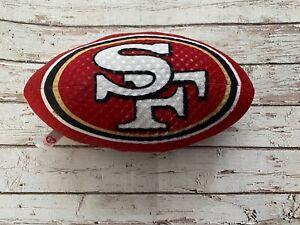 "Ty Beanie Ball San Fransisco 49'ers Stuffed Rush Zone 14"" Plush Soft Ball"