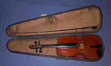"Age? 1 OF A KIND 1800's Handmade Violin ""Village Built"" with 1880's case"