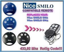 Nice SMILO SM2 / Nice SMILO SM4 compatible télécommande 433,92MHz Rolling code