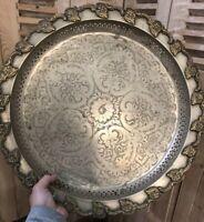Plateau Argent ? Argenterie Métal Argenté Maroc Algérie XIXeme Ancien