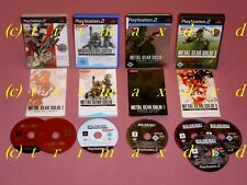 4xPS2_Metal Gear Solid 2 Sons Of Liberty & Substance & Snake Eater & Subsistence