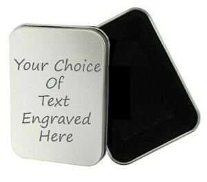 Personalised Engraved Tobacco Tin, Xmas Christmas Present, Birthday Gift, Baccy
