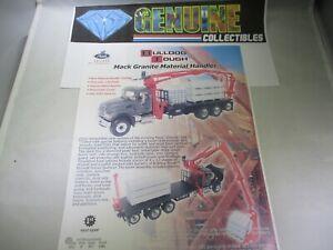 First Gear Mack Granite Material Handler Order Form Color #19-3365