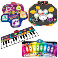 Electronic Kids Musical Play Mat Drum Kit Keyboard Piano Dance Hip Hop Mixer Toy