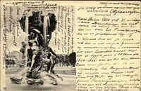 Mannheim AK 1903 Partie an der Brunnengruppe gelaufen nach Esberg mit A-Stempel