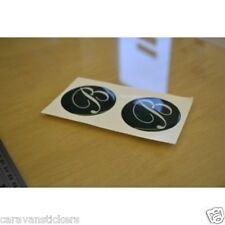 BESSACARR - (RESIN DOMED) - Caravan Wheelcap Badges Sticker Decal Graphic - PAIR