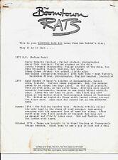 BOOMTOWN RATS PRESS RELEASE 1979 Bob Geldoff