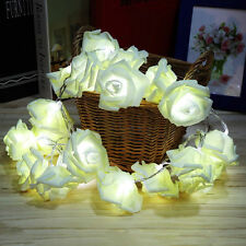 20-LED Rose Flower Fairy Wedding Garden Party Christmas Decor String Lights 2.5M