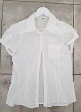 chemise hm femme manches courtes coton blanc