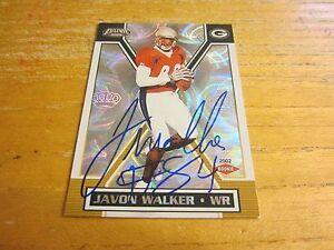 Javon Walker Autographed Signed 2002 Pacific Exclusive Retail #191 ROOKIE NFL