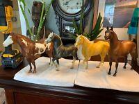 Vintage Marked Breyer Horse LOT of 4 Big Horses Stallion RARE BEAUTIFUL Bundle