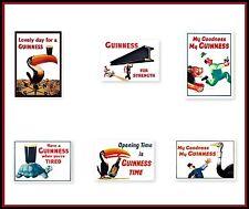 GUINNESS  SET  -  6 A4 Size Poster Prints - NOSTALGIC  RETRO SIGN - VINTAGE ART