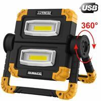 RUNACC LED Work Light Rechargeable Folding Flood Light 20W 1500LM Portable